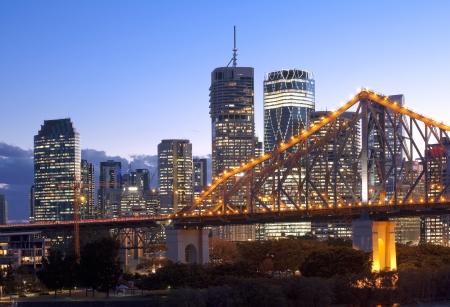 Brisbane city, night Stock Photo