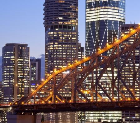 Brisbane city building, night photo