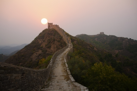 The Great Wall of China Morning Sunrise  photo
