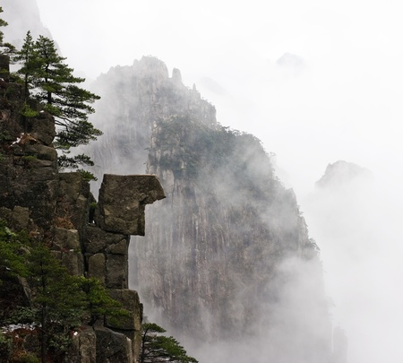 China Huangshan, fog Stock Photo