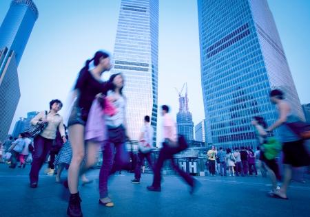 Shanghai Pudong people Archivio Fotografico