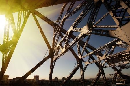 Australia Brisbane iron bridge Archivio Fotografico