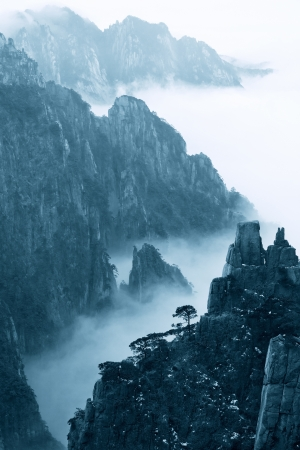 China Huangshan snow