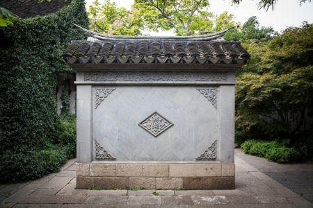 Wall, Chinese style photo