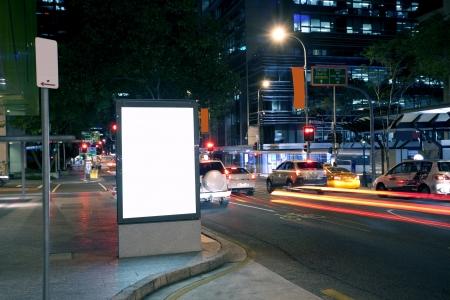 billboard blank: City advertising light boxes