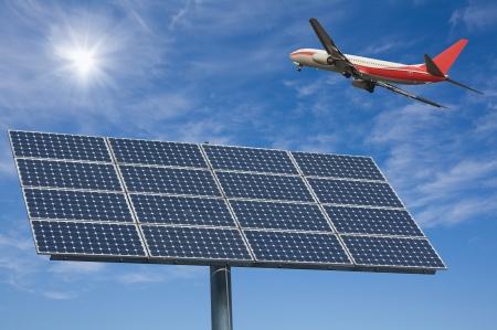 alternativ: Solar panels and aircraft