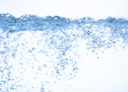 Water on a white background