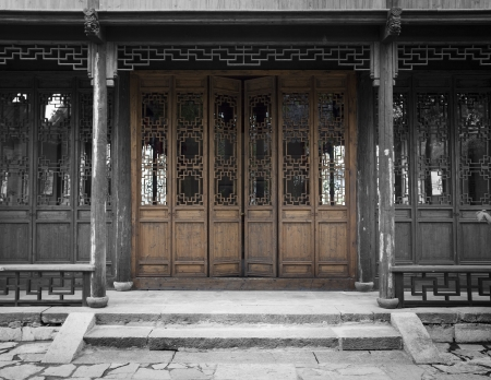 Chinese ancient architecture, the door photo