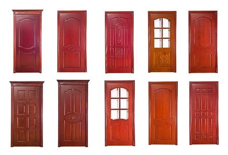 Wood door renderings  Stock Photo - 17360773