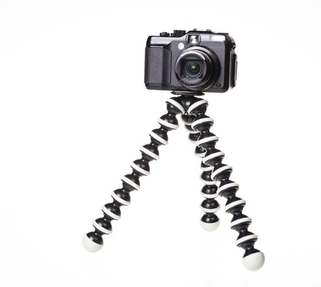 Camera on a tripod photo