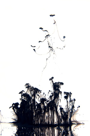 Ink in the white background