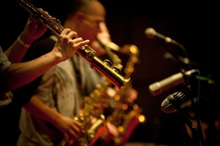 jazz background: Musical performances