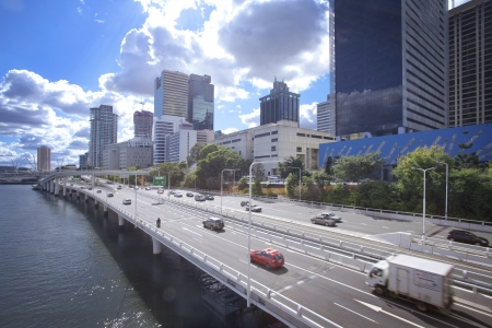 Australia, Brisbane city, highway photo
