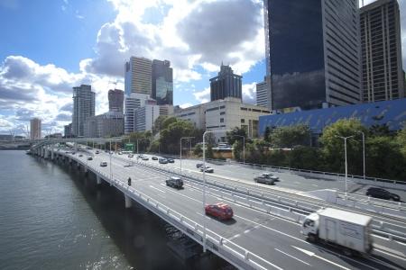 Brisbane, Australia, the city, traffic Archivio Fotografico