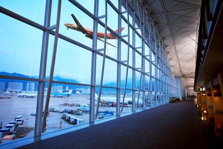 Aeroporto di Hong Kong Archivio Fotografico - 18113921