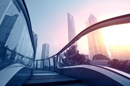 Shanghai Pudong Gebäude der Stadt Editorial