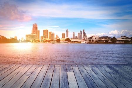 strand australie: Gold Coast gebouw