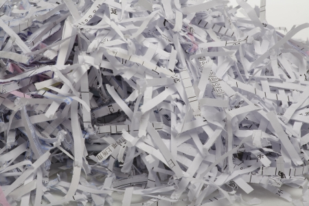 Close up of shredded paper for background. photo