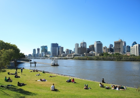Brisbane city in the afternoon