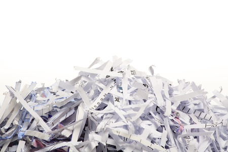 shredded paper: Close up of shredded paper for background.