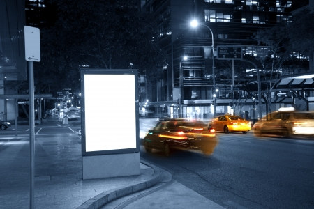City advertising light boxes photo