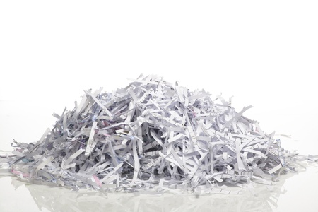 pile reuse: Close up of shredded paper for background.