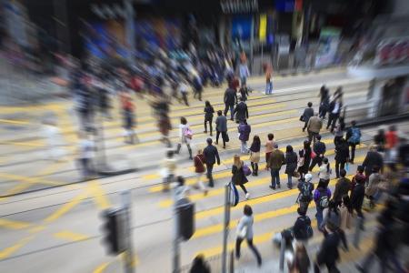 Fußgänger in Hong Kong Standard-Bild