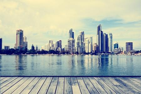 Die modernen Gebäude der Gold Coast