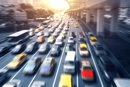 Highway, automobile driving