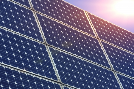 monocrystalline: Solar panels Stock Photo