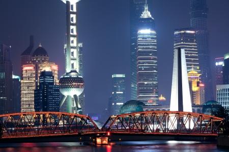 The old bridge. Bund in Shanghai Archivio Fotografico