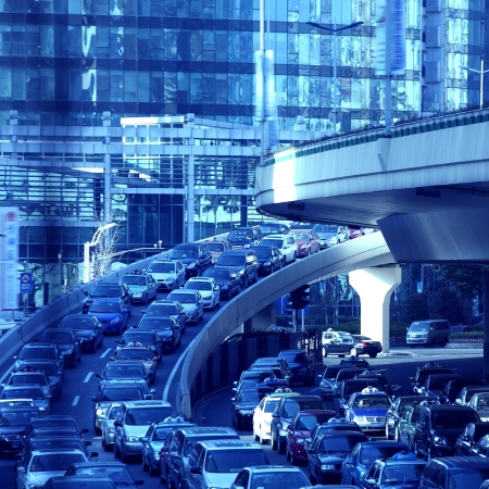 congested: Congested city roads