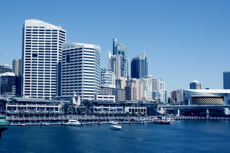 centrepoint tower: A harbour scene, Darling Harbour, Sydney, New South Wales, Australia