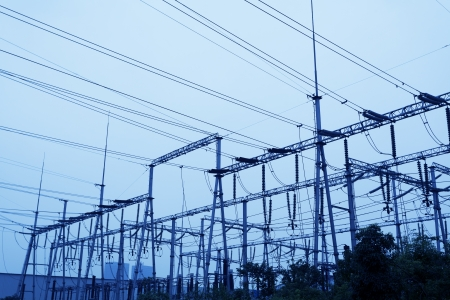 isolator insulator: High Voltage Electrical Substation