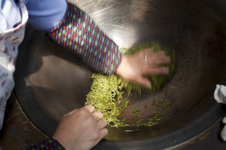 China, tea production process