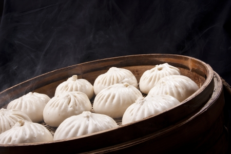 Chinese food, steamed bun photo