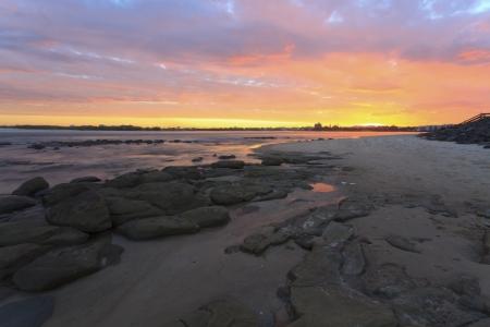 Queensland coastline, evening photo
