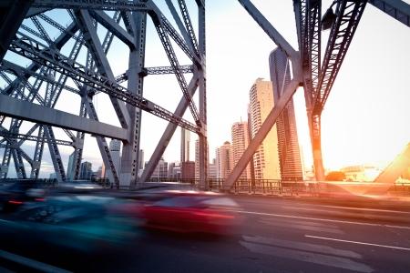 Brisbane city bridge 写真素材