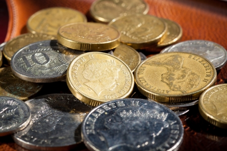 Australian coins, Soft focus, shallow DOF photo