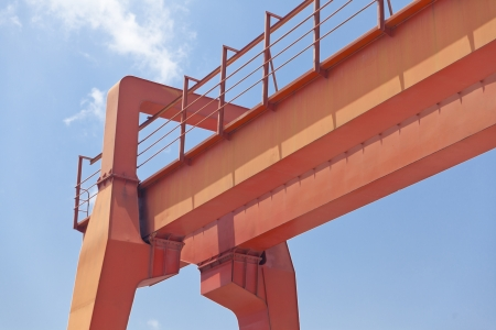 Yellow gantry crane  photo