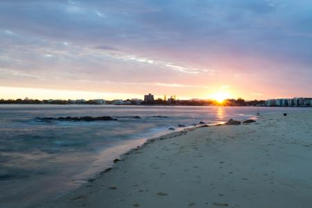 Brisbane coastline, Australia Stock Photo