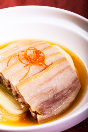 Chinese dishes  Sliced pork photo