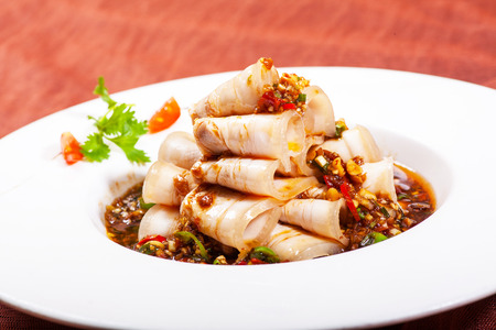 Chinese dishes  Sliced ​​pork photo