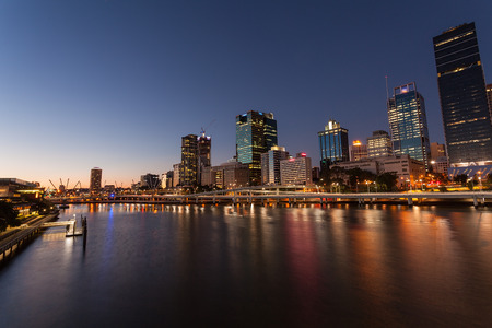 Brisbane City Night Stock Photo