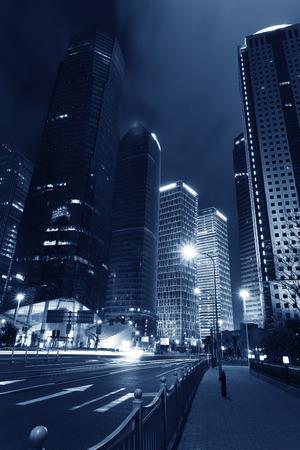 Shanghai city night  photo