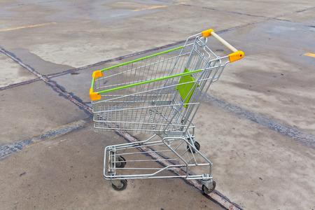 Supermarket shopping cart photo