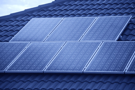 Photovoltaic roof panels photo