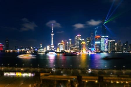 huangpu: Shanghai Pudong skyline Stock Photo
