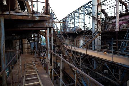 steel mill: Abandoned steel mill
