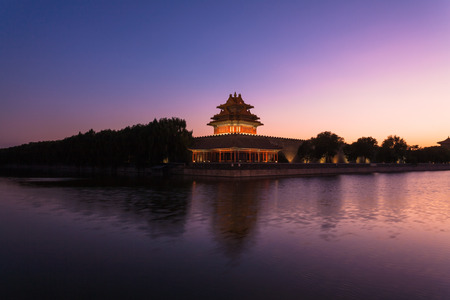 turret: China Beijing, turret in the evening Editorial
